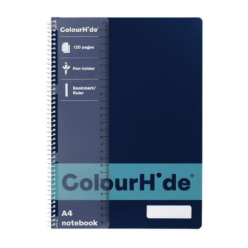 ColourHide Notebook 120 Page Navy A4