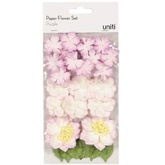 Uniti Paper Flower Set Purple