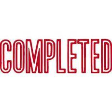 Xstamper Stamp Completed Red