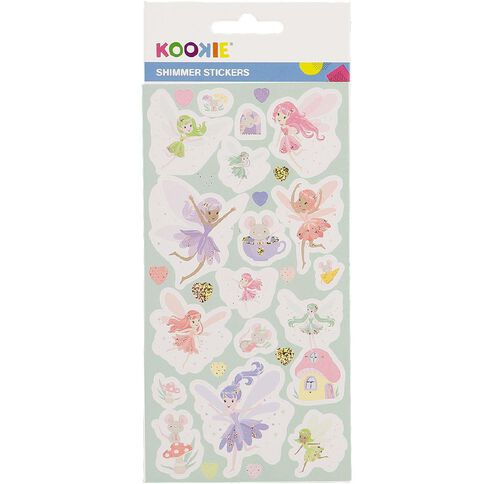 Kookie Sticker Sheet Glitter 3 Assorted
