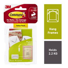 Command Wire-Backed Picture Hanger Value Pack White