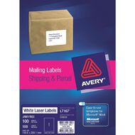 Avery Laser Shipping & Parcel Labels L7167-1 Pack 100