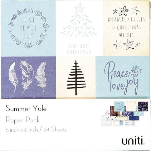 Uniti Summer Yule Paper Pad 6in x 6in