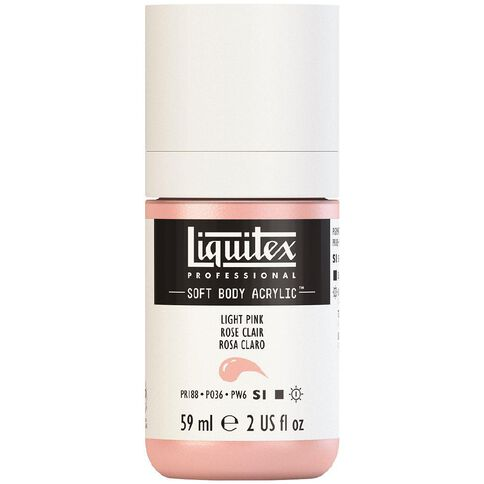 Liquitex Soft Body Acrylic 59ml Light Portrait Pink S1