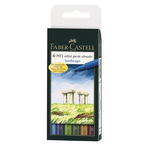 Faber-Castell Pitt Artist Brush Pens Landscape 6 Pack