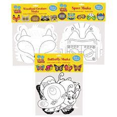 Little Hands Educational Diecut Masks 10 Pack Assorted