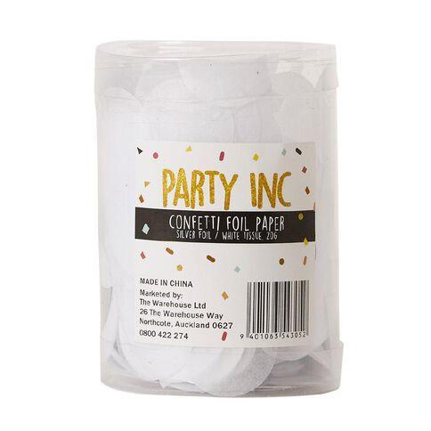 Party Inc Confetti Foil Paper 20g Silver