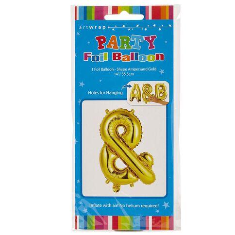 Artwrap Foil Balloon Ampersand Gold 35cm