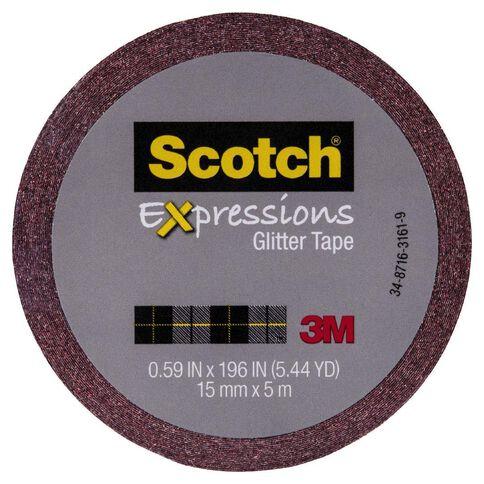 Scotch Craft Glitter Tape 15mm x 5m Red