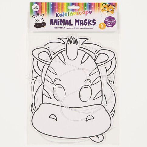 Kaleidoscope Paper Animal Masks