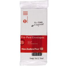 New Zealand Post DLE Envelope Prepaid Window 25 Pack