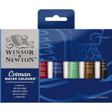 Winsor & Newton Cotman Water Colour Set of 6 8ml Tubes Multi-Coloured