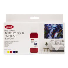 Jasart Acrylic Pour Paint 60ml Set 6