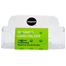 Impact Desktop Business Card Holder Clear