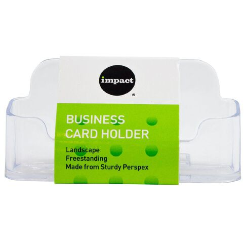 Impact desktop business card holder clear warehouse stationery nz impact desktop business card holder clear reheart Gallery