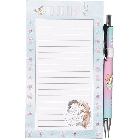 Disney Ariel To Do list with metal ball pen