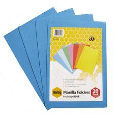Marbig Manilla Folders Foolscap 20 Pack Blue