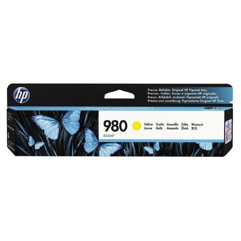 HP 980 Yellow Original Ink Cartridge (6600 Pages)