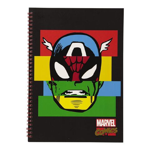 Marvel Kids Avengers Face Notebook Red A4
