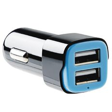 Tech.Inc Dual USB Car Charger 2.4A Black