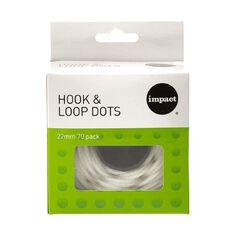 Impact Hook & Loop Dots 22mm 70 Pack White