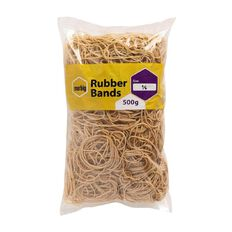 Marbig Rubber Bands 500g #18 Brown