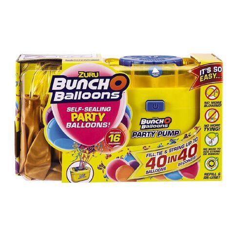 Zuru Bunch O Balloons Self-Sealing 16 Balloons & Pump Pack Gold