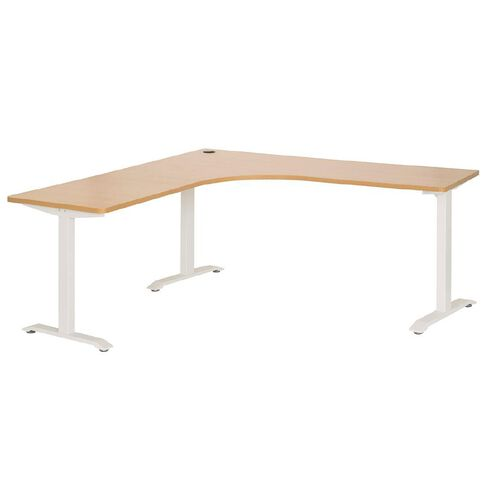Jasper J Emerge Metal Leg Workstation 1500 Beech/White