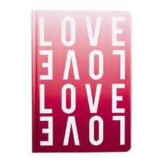 Uniti Fun & Funky Notebook Hardcover PU Love Pink A5