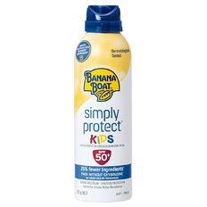 Banana Boat Simply Protect Kids' Aersol Lotion Spray SPF50+ 175g