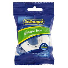 Sellotape Invisible Write-On Tape 18mm x 33m Clear