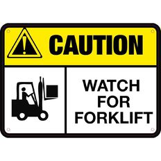 Impact Caution Watch For Forklift Sign Small 240mm x 340mm