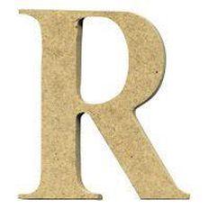 Sullivans Mdf Board Alphabet Letter 6cm R Brown