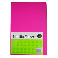 Impact Manilla Folders Foolscap 10 Pack Pink