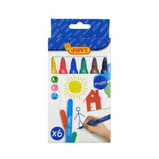 Jovi Washable Maxi Felt Tip Pen 6 Pack Multi-Coloured 6 Pack