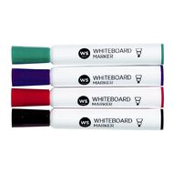WS Whiteboard Markers Chisel 4 Pack Assorted