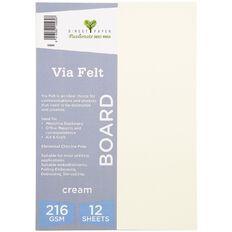 Direct Paper Via Felt 216gsm 12 Pack Cream A4