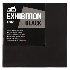 DAS Exhibition Black 1.5 Canvas 6in x 6in