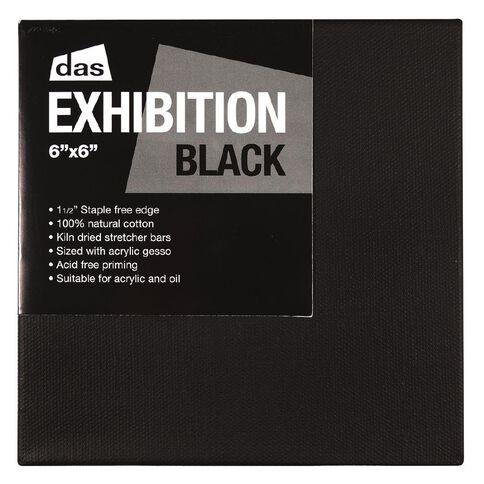 DAS Exhibition Black 1.5 Canvas 6in x 6in