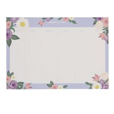 Uniti Blossom Weekly Planner Purple A4