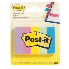 Post-It Page Markers Small 5 Pack Assorted