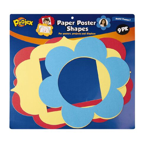 Projex Paper Shapes Board Shapes Frames 9 Pack