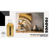 Reeves Paint Pouring Set Metallic 4 Pack