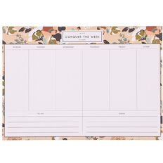 Uniti Winter Bloom Weekly Planner A4