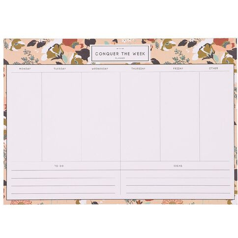 Uniti Winter Bloom Weekly Planner A4