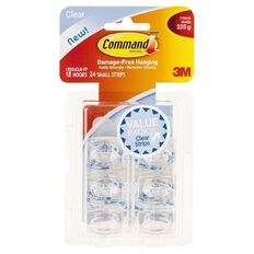 Command Mini Hooks with Strips Value Pack Clear