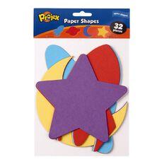 Projex Paper Shapes Planets 15cm x 15cm 32 Piece