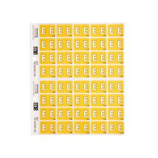 Filecorp Coloured Labels E Yellow