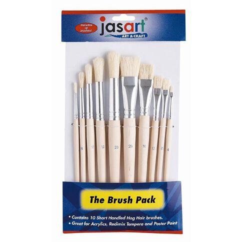Jasart Paint Brush Short 10 Pack