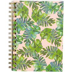 Uniti Fun & Funky Spiral Notebook Green Leaf A5